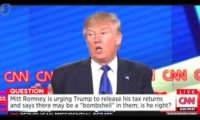 Trump doesn't self-fund, and hides his taxes