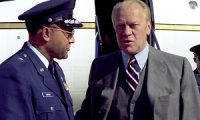 Brig. Gen. Archer L. Durham greets former President Gerald Ford as he arrives for a visit at Andrews Air Force Base, Md., in 1981. President Ford passed away in his California home Dec. 26 at age 93. General Durham was commander of the 76th Military Airlift Division at Andrews AFB. (U.S. Air Force photo)