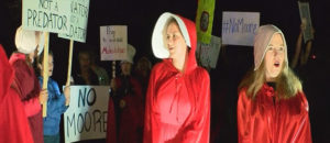 Mishandled handmaids; Protests need protecting
